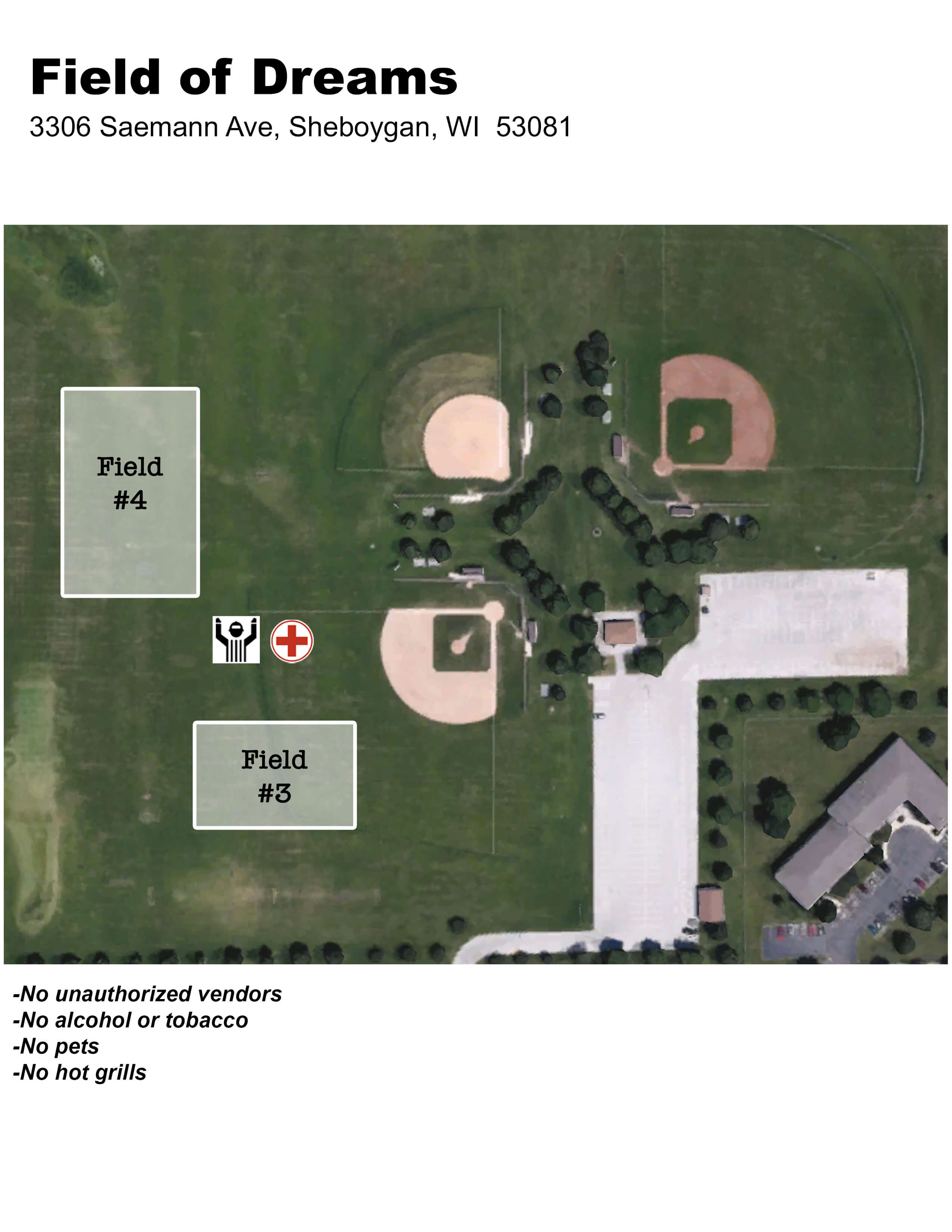 Field of Dreams Field Layout